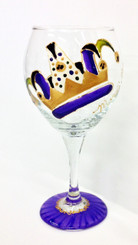 Mardi Gras Jester Hat Wine Glass