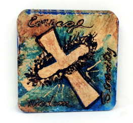 Courage Corkback Coaster Set