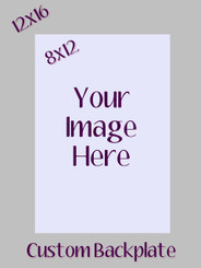 Custom Image on Custom Background Metal  8x12/12x16