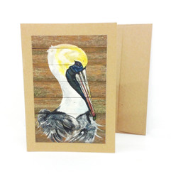 Pelican Notecard by Stacey