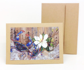 Crab & Magnolias Notecard by Stacey