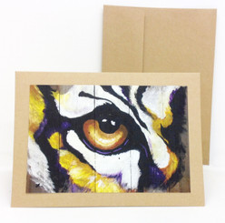 Tiger Eye Notecard by Stacey