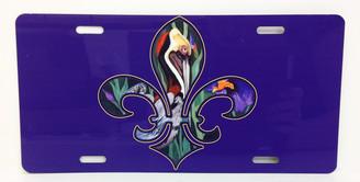 Pelican Fleur de Lis License Plate