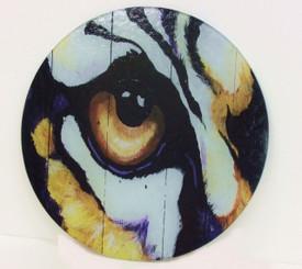 Round Tiger Eye Cutting Board