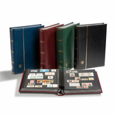 Lighthouse Stockbook and Slipcase (Black), 64 Pages
