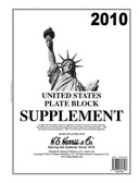 2010 H.E. Harris U.S. Plate Block Album Supplement