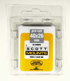 40 x 26 mm Scott Pre-Cut Mounts (Scott 1045 B/C)