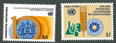 United Nations - Offices in Vienna, Scott Cat. No. 22 - 23, MNH