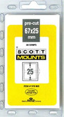 67 x 25 mm Scott Pre-Cut Mounts  (976 B/C)