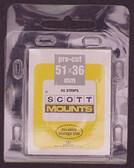 51 x 36 mm Scott Pre-Cut Mounts (986 B/C)