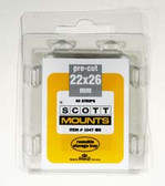 22 x 26 mm Scott Pre-Cut Mounts (Scott 1047 B/C)