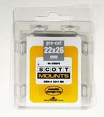 22 x 26 mm Scott Pre-Cut Mounts (Scott 1047 B/C)