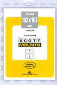 152 x 107 mm Scott Pre-Cut Mounts (Scott Mount 1048 B/C)