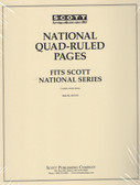 Scott National Series Blank Quadrille Pages