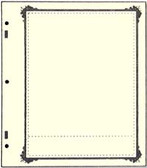 Advantage 1 - Pocket Stock Sheets (Specialty Border - 10 per package)