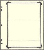 Advantage 2 - Pocket Stock Sheets (Specialty Border - 10 per package)