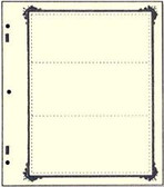 Advantage 3 - Pocket Stock Sheets (Specialty Border - 10 per package)