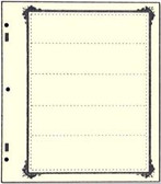 Advantage 5 - Pocket Stock Sheets (Specialty Border - 10 per package)