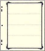 Advantage 4 - Pocket Stock Sheets (Specialty Border - 10 per package)