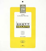 Scott Mounts Souvenir Sheets/Small Panes -  183 x 216 mm (Scott 1040 B/C)