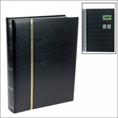 Safe Publications - 64 Page Full-Size Traditional Black Stockbook