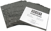 Scott Pages for Cover Binders, 25 per Pack (Black)