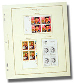 Scott US Commemorative Plate Block Album Pages, Part 7  (1989 - 1995)