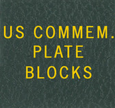Scott US Commemorative Plate Block Album Binder Label