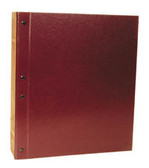 "MINKUS: 2.5"" 2-Post Maroon Binder For Country and Worldwide Pages"
