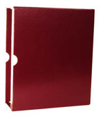 """MINKUS Slipcase for  2.5"""" 2-Post Maroon Binder For Country and Worldwide Pages"""