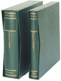 Scott Large Green Specialty 3-Ring Binder & Slipcase Set