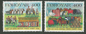 Faroe Islands, Scott Cat Nos. 274 - 275 (Set), MNH