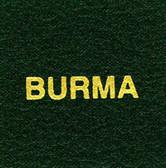 Scott Burma Specialty Binder Label