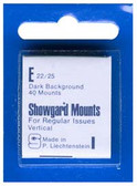 Showgard 22 x 25 mm Pre-Cut Mounts