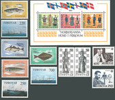 Faroe Islands 1983 Year Set, Scott Cat Nos. 90 - 101, MNH
