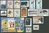 Faroe Islands 1996 Year Set, Scott Cat Nos. 295 - 311, MNH