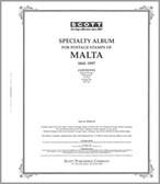 Scott  Malta Stamp Album Pages, Part 1  (1860 - 1997)