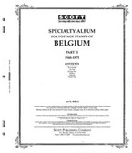 Scott Belgium Stamp Album Part 2,  1948 - 1975