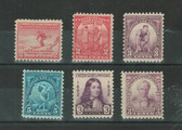 United States 1932 Commemorative Year Set, Scott Cat. Nos.  716 - 719, 724 - 725, MNH