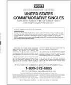 Scott US Commemorative Singles  Album Supplement, 2017 #47