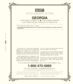 Scott Georgia Stamp Album Supplement, 2018, No. 18