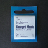 Showgard 27 x 25 mm Pre-Cut Mounts