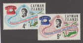Cayman Islands Scott 189 - 190, MNH