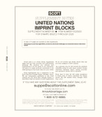 Scott United Nations Imprint Blocks Album Supplement, 2020 #69