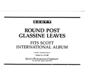 Glassine Interleaves for Scott International Albums (2 -Post)