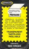 Supersafe Prefolded Stamp Hinges - 5 Packs
