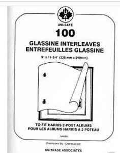 Glassine Interleaves for Harris 2-Post Albums
