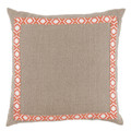 Natural and Coral Pillow