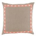 Natural and Coral Pillow