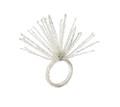 Spider Bead Burst Napkin Ring in Crystal & Silver Bead